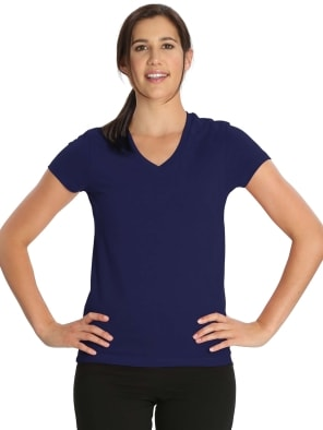 Imperial Blue V-neck Tee