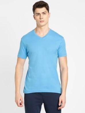 Azure Blue V-Neck T-shirt