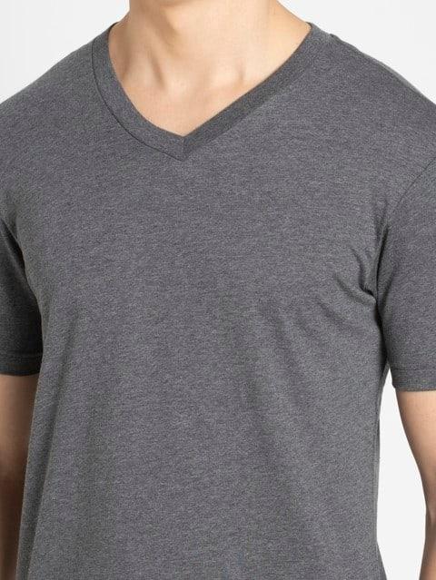 Charcoal Melange V-Neck T-shirt