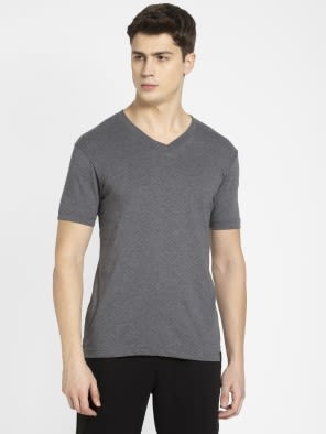 Charcoal Melange V-Neck T-shirt