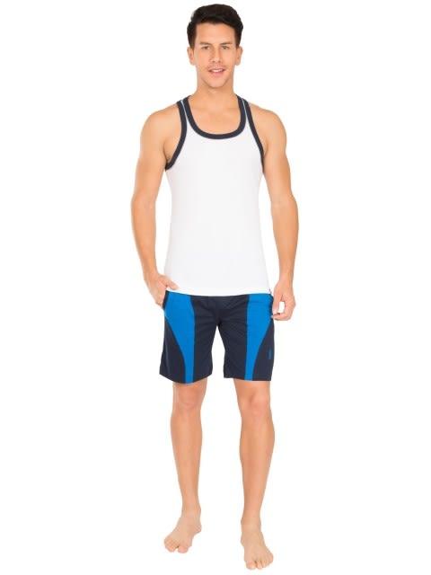 White & Navy Fashion Power Vest