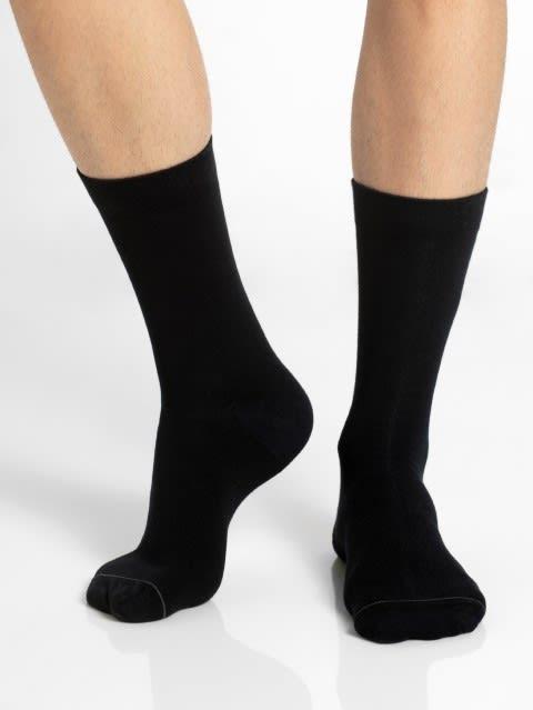 Black & Grey Men Calf Length Socks