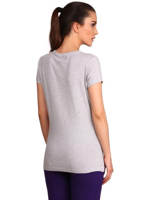 Light Grey Melange Round Neck T-Shirt