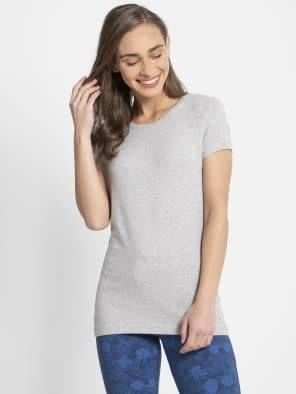Light Grey Melange Round Neck T-Shirt