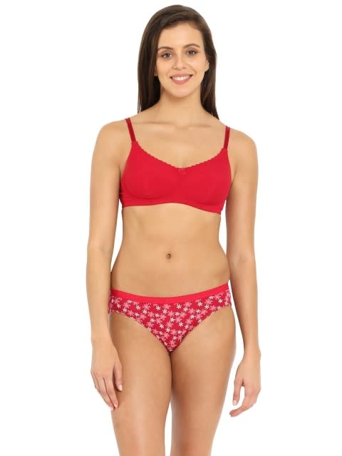Red Love Slim Fit Bra