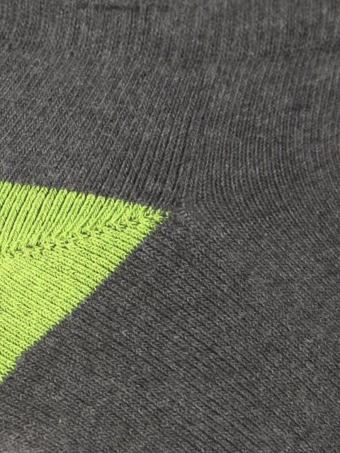 Charcoal Melange & Performance Green Men Low Ankle Socks