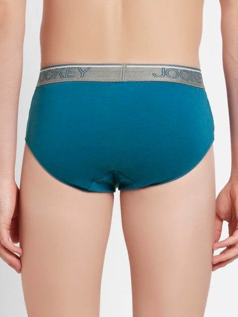 Blue Saphire Square Cut Brief Pack of 2