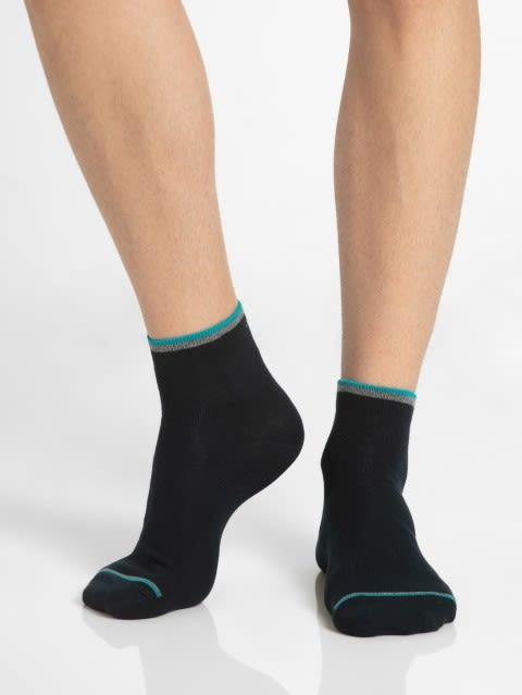 Navy & Teal Green Men Ankle Socks