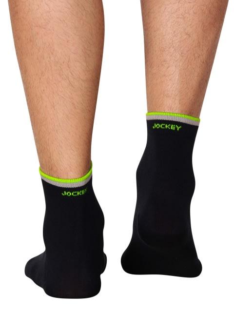 Navy & Neon Yellow Men Ankle Socks