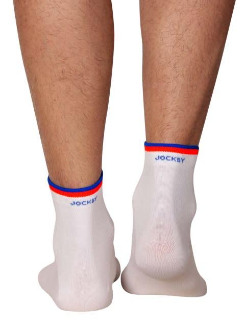 White & Assorted Neon Colors Men Ankle Socks