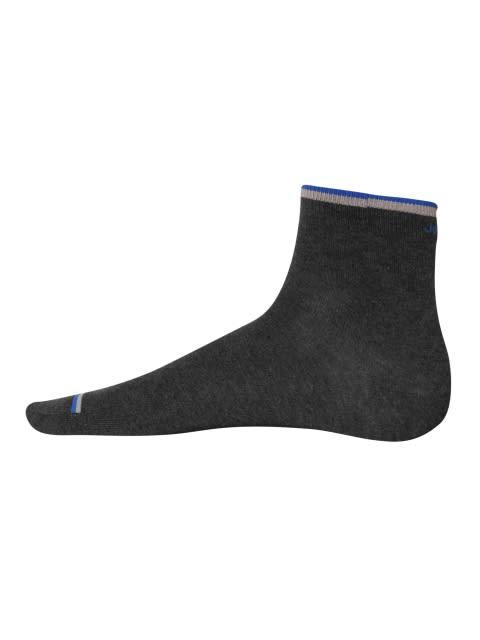 Charcoal Melange & Rich Royal Blue Men Ankle Socks