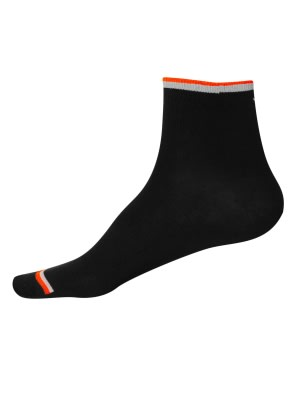 Black & Assorted Neon Colors Men Ankle Socks
