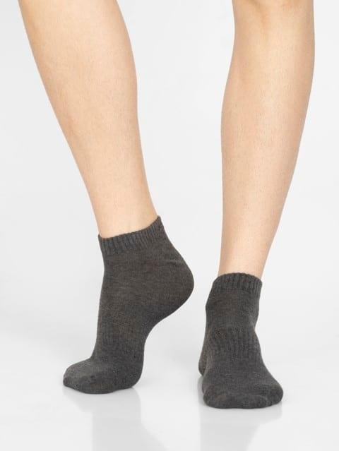 Khaki Melange Men Low Show Socks