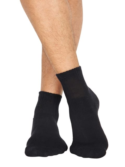 Navy Men Ankle Socks