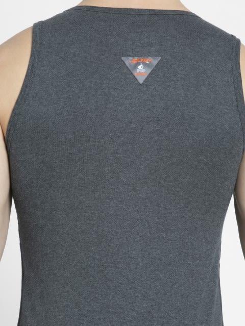 Charcoal Melange & Neon Orange Vest