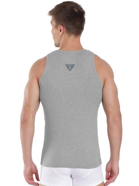 Grey Melange & Teal Green Vest
