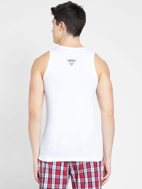 White & Neon Blue Vest