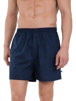 Navy & Navy Checks Boxer Shorts Pack of 2