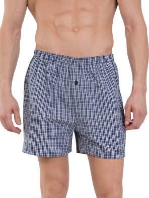 Black & Black Checks Boxer Shorts Pack of 2