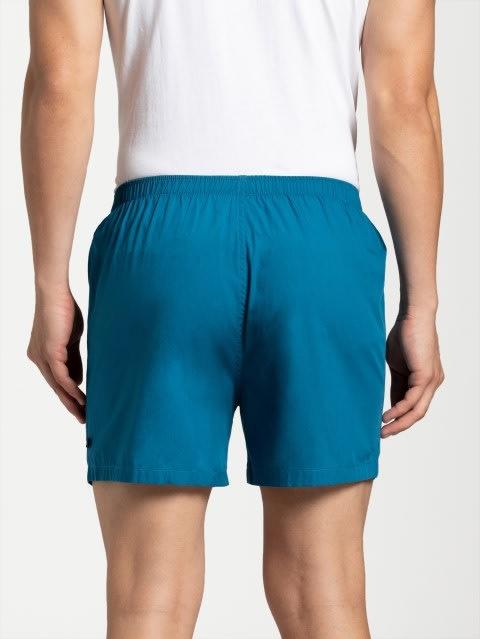 Blue Saphire & Blue Checks Boxer Shorts Pack of 2