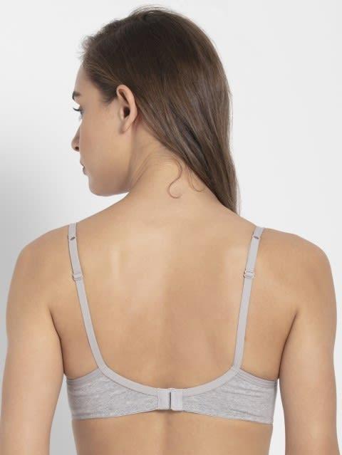 Light Grey Melange Non-wired Padded Bra