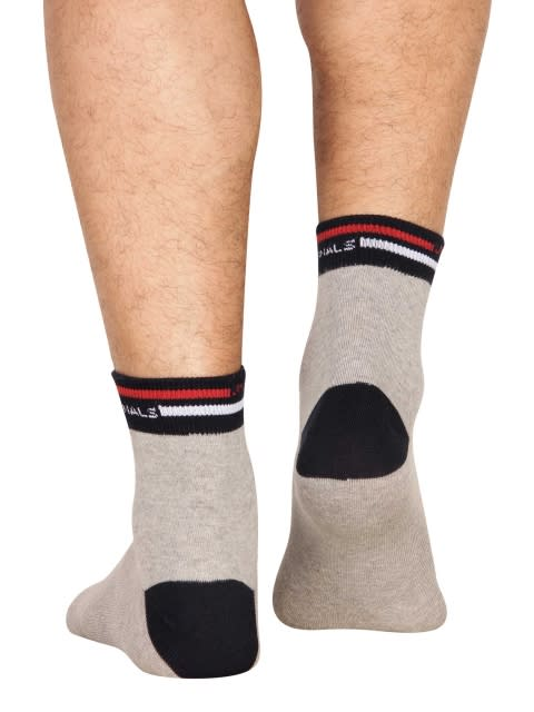 Grey Melange Men Ankle Socks
