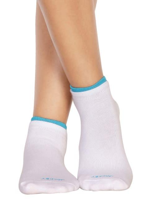 White & Blue Danube Women Low ankle socks Pack of 2