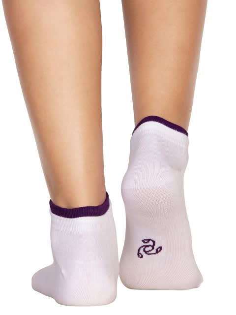 White & Acai Women Low ankle socks Pack of 2