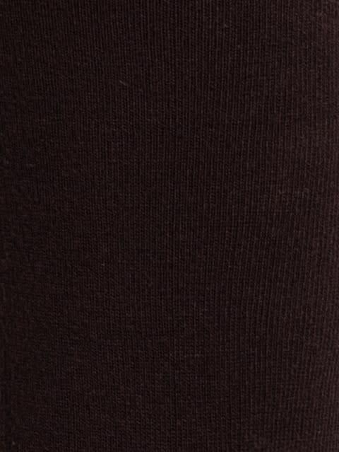 Dark Brown Men Calf Length Socks
