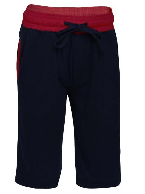 Navy & Team Red Boys Knit Shorts