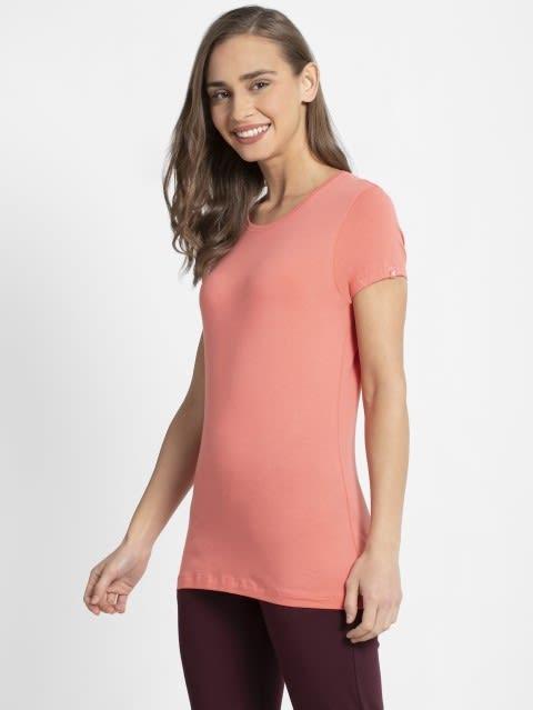Blush Pink Round Neck T-Shirt