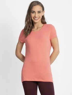 Blush Pink Round Neck T-Shirt