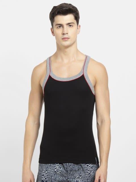 Black & Grey Melange Vest