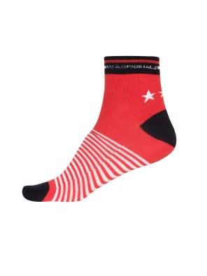 Wordly Red Men Ankle Socks