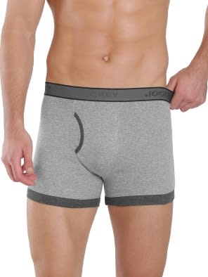 Grey Melange & Charcoal Melange Boxer Brief