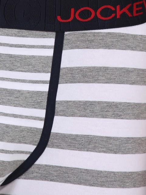 White & Grey Melange Striped Yarn dyed Trunk
