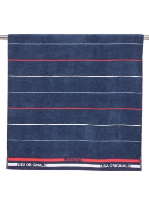 Ink Blue Grindle Bath Towel