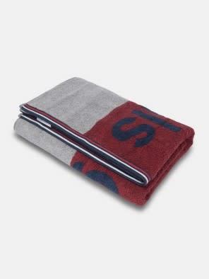 Red Grindle Bath Towel