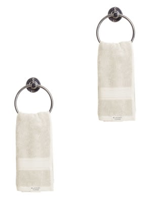 Pearl White Hand Towel Pack of 2