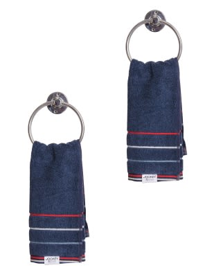 Ink Blue Grindle Hand Towel Pack of 2