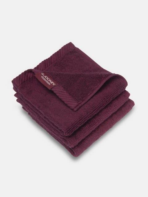 Burgundy Face Towel Pack of 3