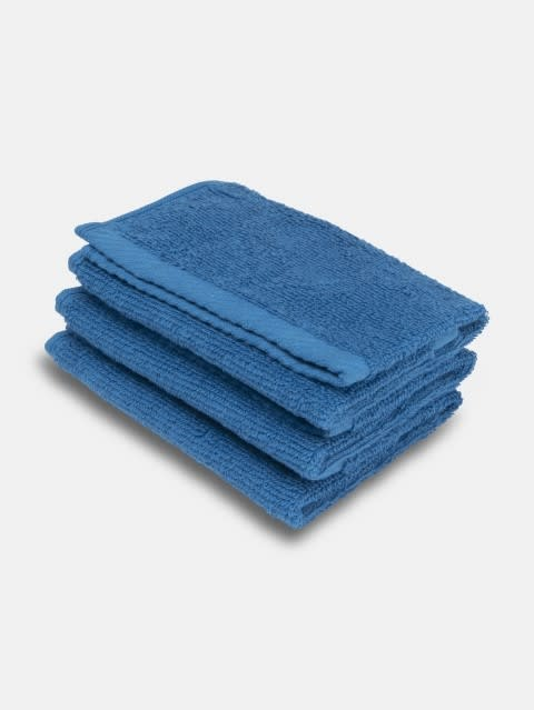 Mid Blue Face Towel Pack of 3