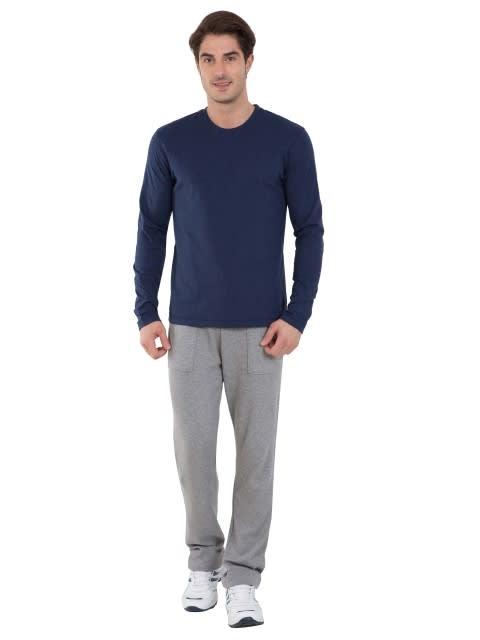 Ink Blue Melange Long Sleeved T-Shirt