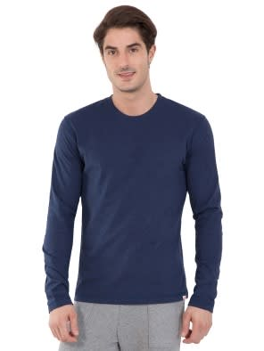 Ink Blue Melange Long Sleeved T-Shirt