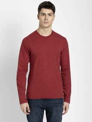 Red Melange Long Sleeved T-Shirt