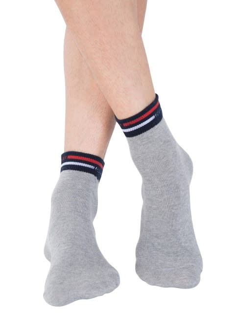 Grey Melange Ankle Socks