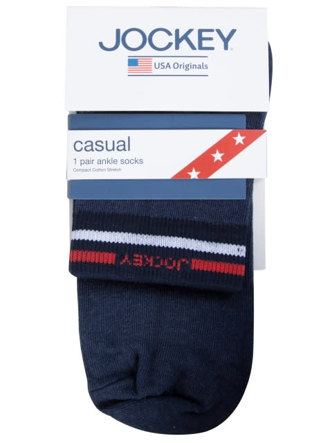 Navy Melange Ankle Socks