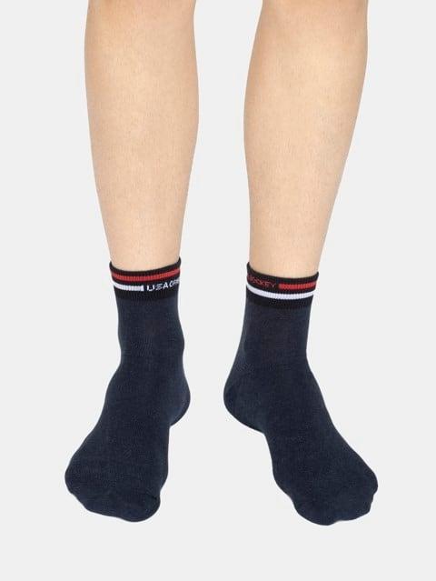 Navy Melange Men Ankle Socks