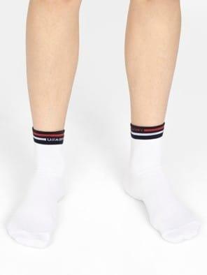 White Men Ankle Socks