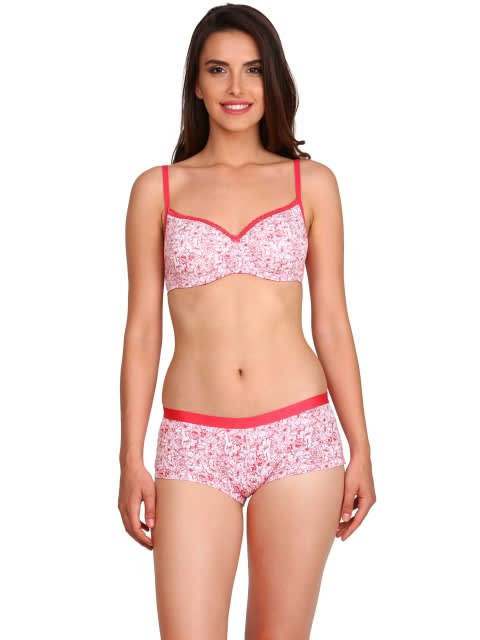 Pink Non-wired Padded Bra